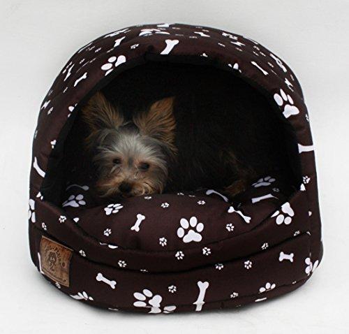 Hundehöhle Pfötchen braun - 2