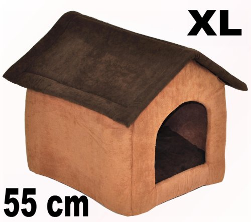 nanook Hundehöhle CHALET JOKER Wildleder-Optik, dunkelbraun, braun