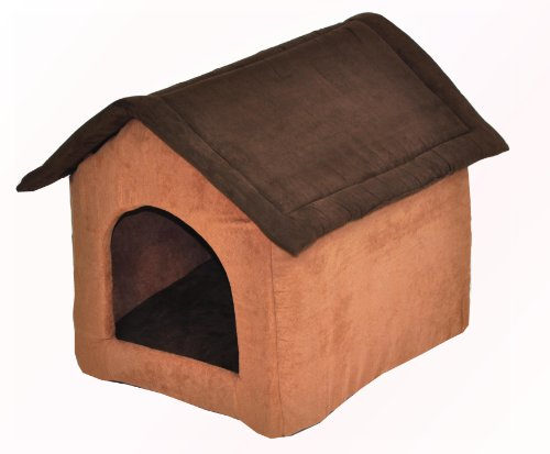 nanook Hundehöhle CHALET JOKER Wildleder-Optik, dunkelbraun, braun - 3