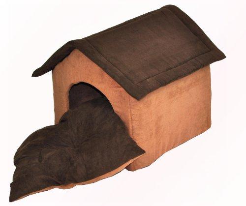 nanook Hundehöhle CHALET JOKER Wildleder-Optik, dunkelbraun, braun - 5