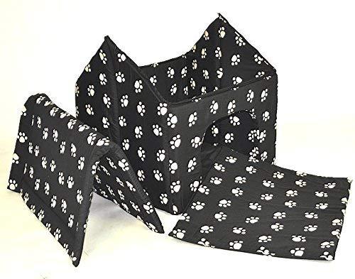 nanook Hundehöhle Chalet Black, Schwarz mit Pfoten - 2
