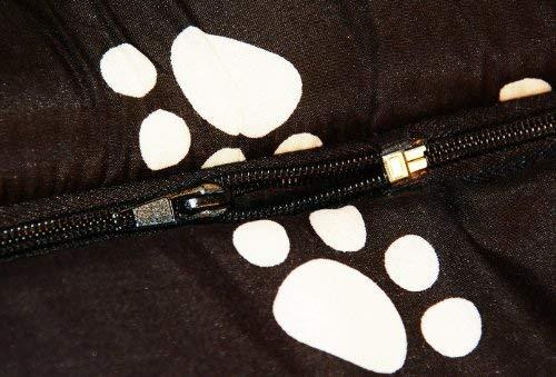 nanook Hundehöhle Chalet Black, Schwarz mit Pfoten - 6