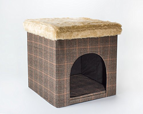 Hundehöhle und Hocker, Tweed-Optik, indoor - 2