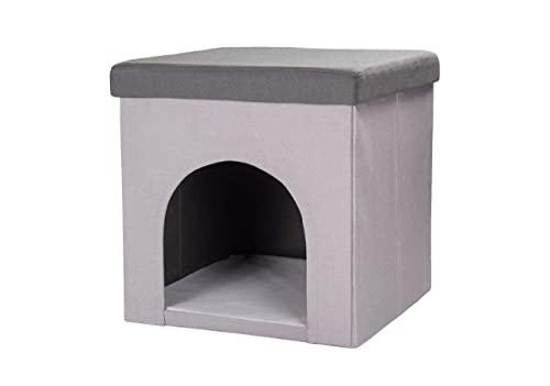 Hundehöhle und Hocker grau, Tierhöhle, Sitzhocker