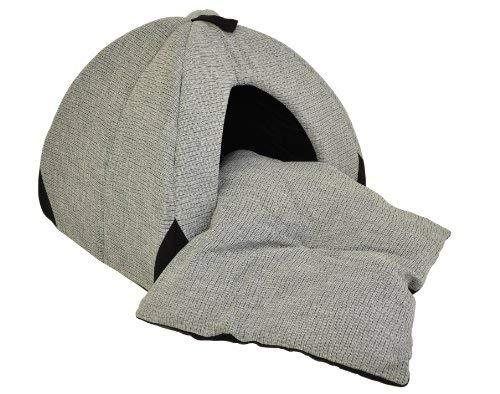 Hundehöhle / Katzenhöhle 'Woody' – 45 cm – grau / schwarz mit weichem, herausnehmbaren Schlafkissen - 3