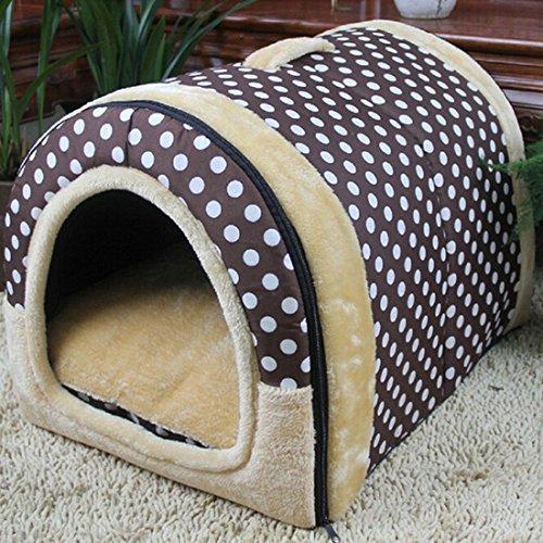 Hochwertige, tragbare Outdoor Hundehöhle Polka Dot L von Qianle - 2