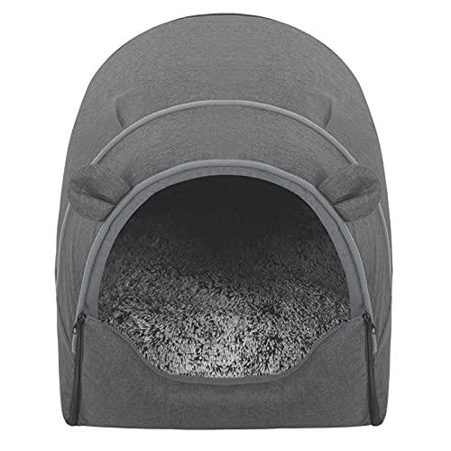 EUGAD Hundehaus für Welpen Grau M 45x40x45cm