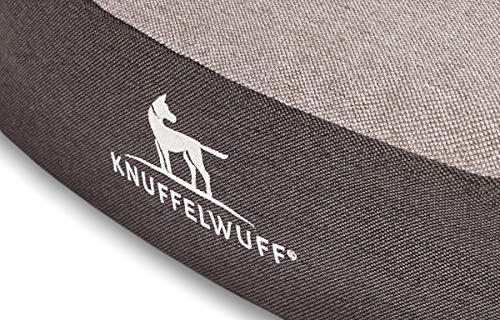 Knuffelwuff 14091-001 Orthopädisches Höhlenbett Höhle Hundebett Jaimie 100 cm, Schwarz-Grau - 3