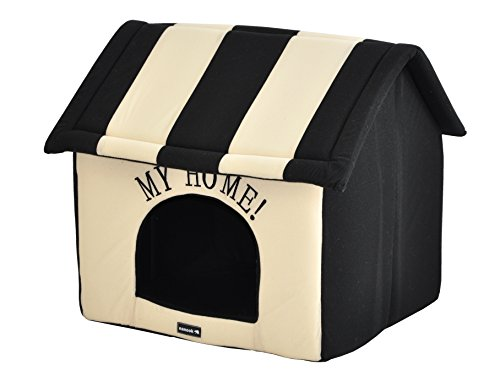 nanook Hundehaus Hundehöhle Adrian Größe L schwarz beige - 5