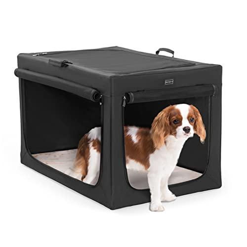 Petsfit Faltbare Hundetransportbox mit Fleece Matte