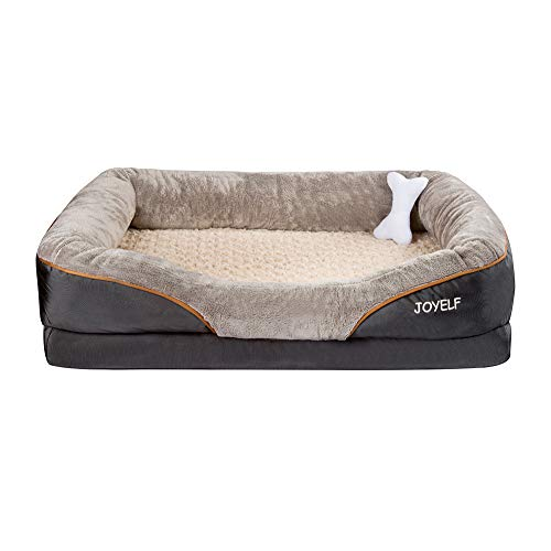 JOYELF Large Memory Foam orthopädisches Hundebett & Sofa