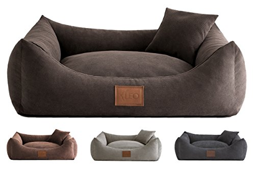 Leo4dog. Sofa Sun. 6 Größen, 4 Farben Hundebett, Hundekissen (115x90, Braun)
