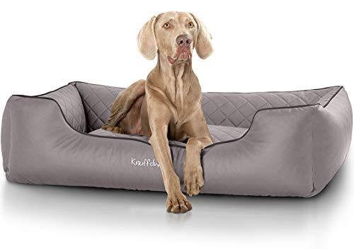 Knuffelwuff Orthopädisches Hundebett Madison XXL 120 x 85cm Grau