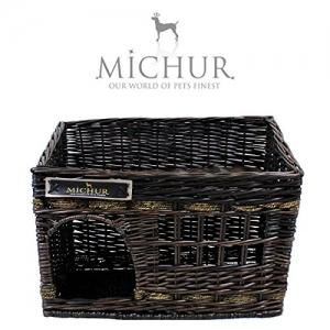 MICHUR JERRY, Katzenhöhle, Hundehöhle, Katzenkorb, Hundekorb, WEIDE, RATTAN, NATUR, ca. 57x35x43cm (Liegefläche ca. 55x33cm) - 3