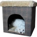Hundehöhle / Katzenhöhle und Hocker, Tweed-Optik, 50x50x50 cm, indoor - 6